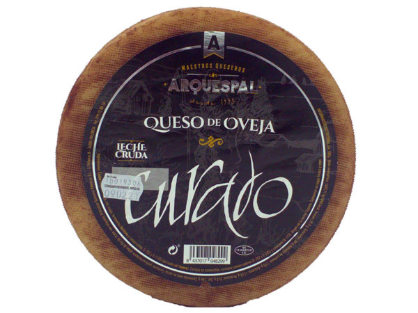 arquespal raw milk manchego